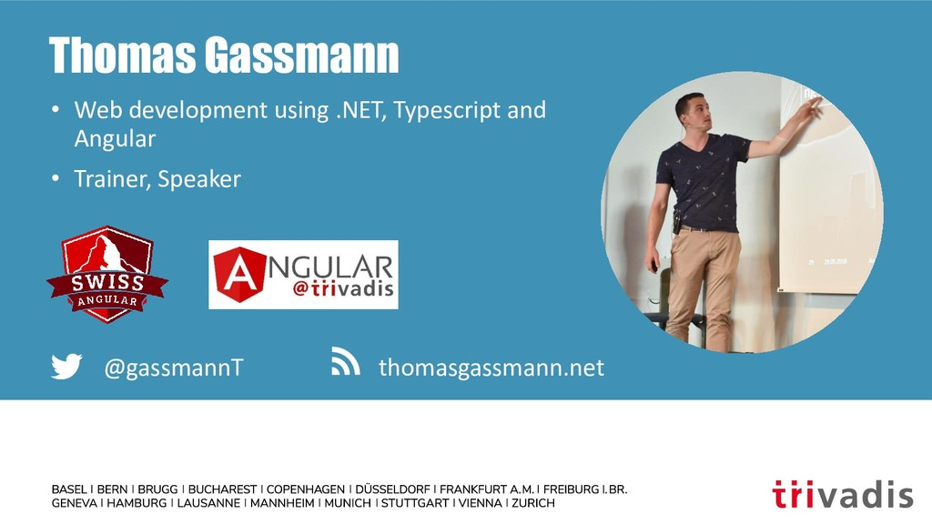 Thomas Gassmann • Web development using .NET, T...