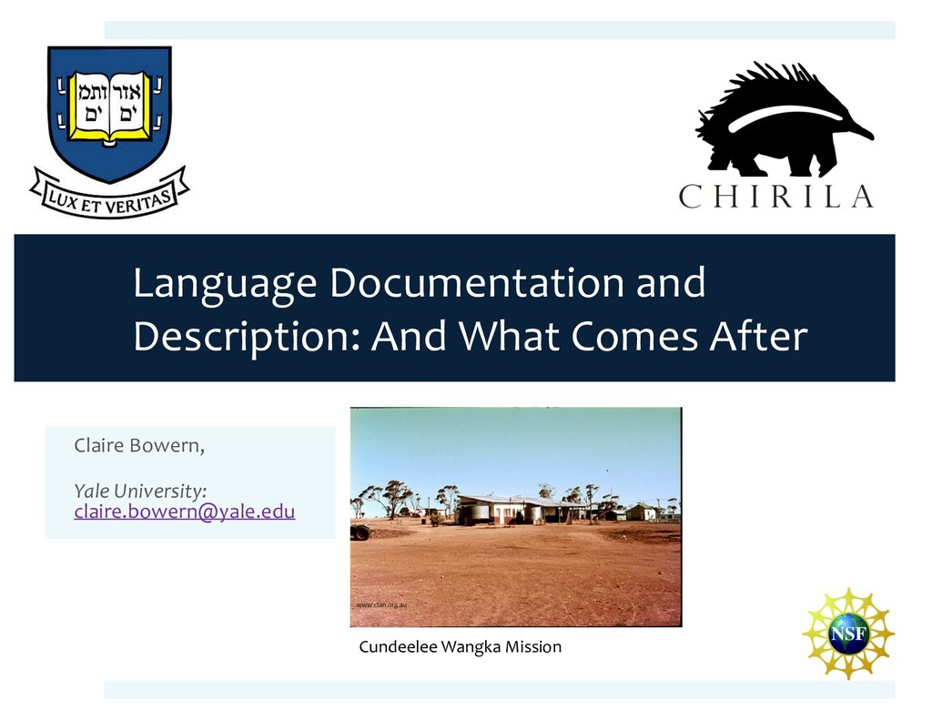 Language Documentation and Description: And Wha...