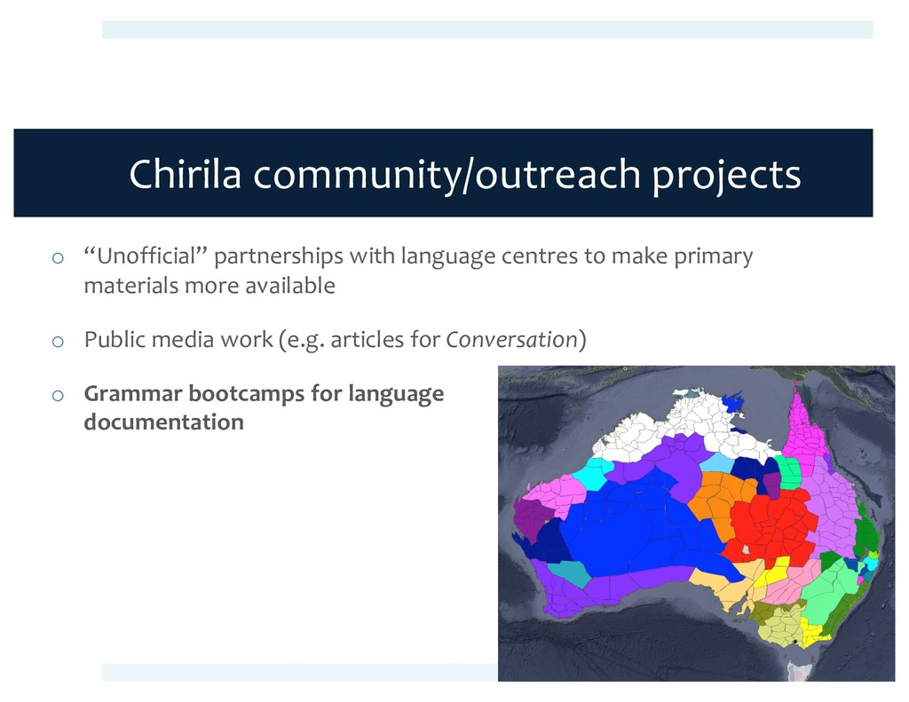 "Chirila community/outreach projects o ""Unoffici..."