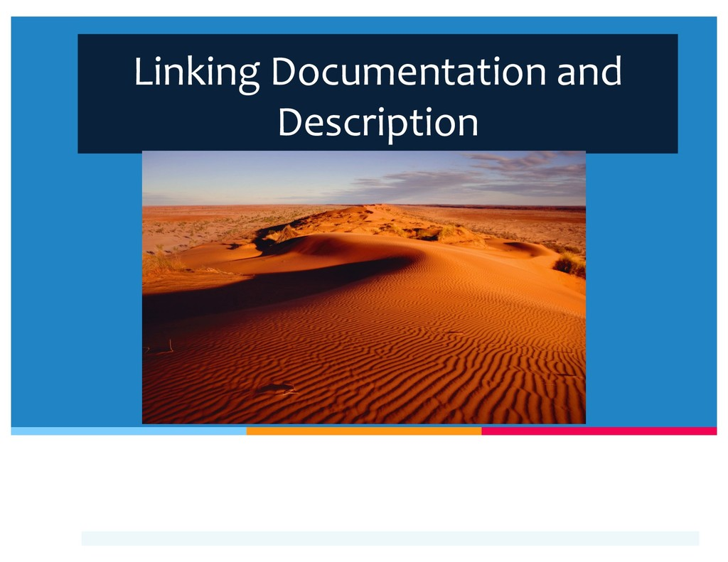 Linking Documentation and Description