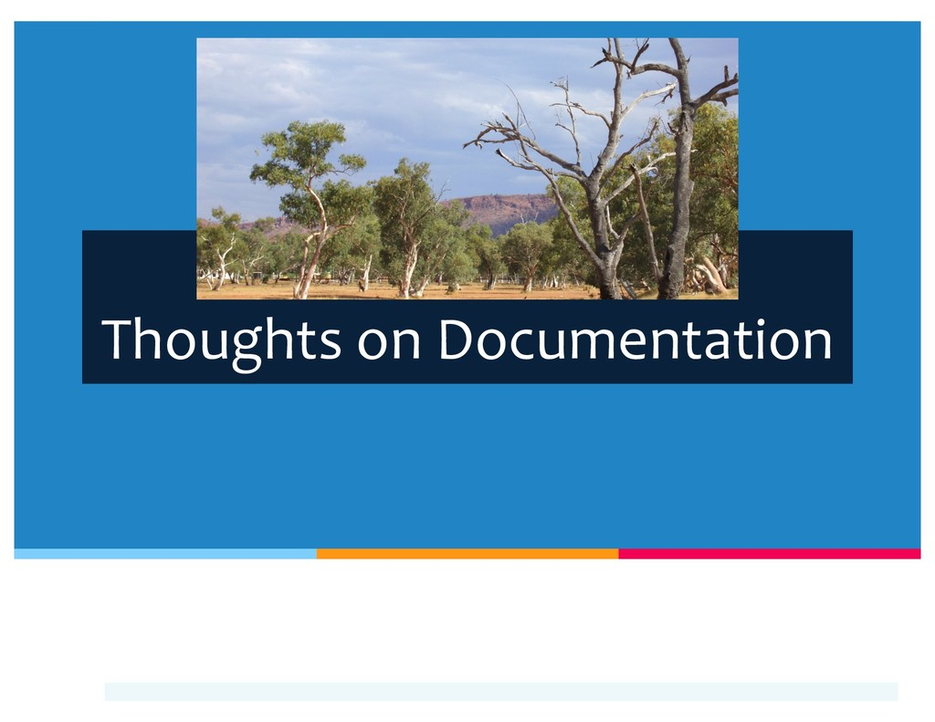 Thoughts on Documentation