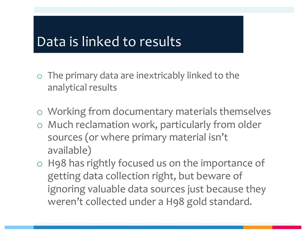 Data is linked to results o The primary data ar...