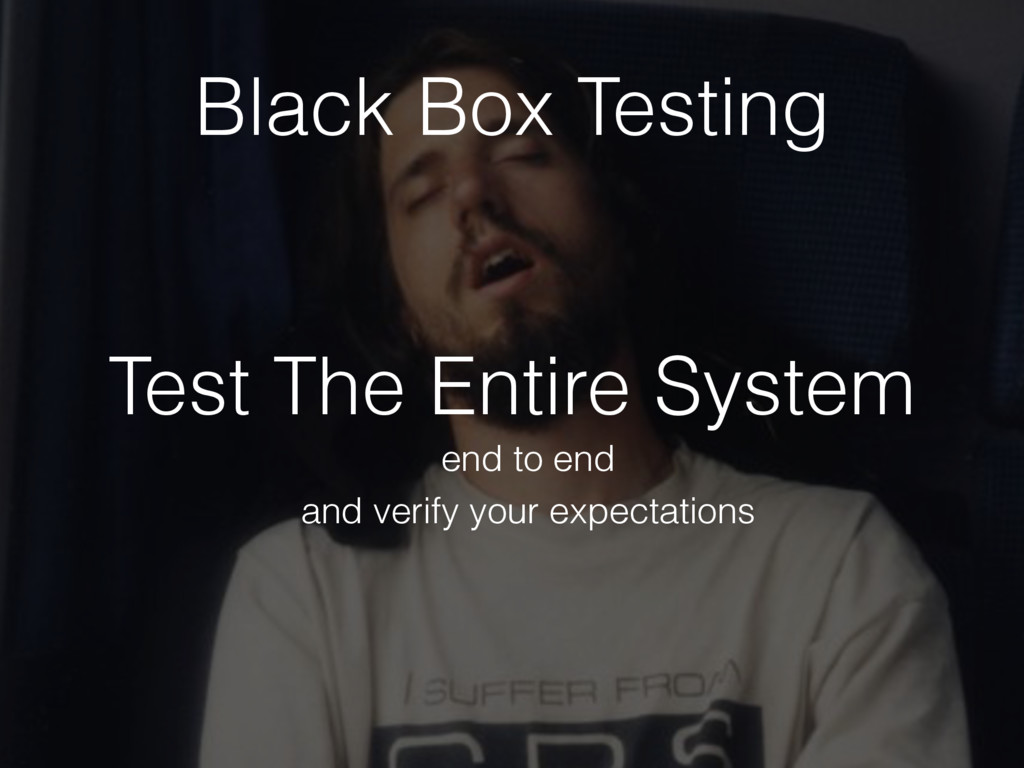 Test The Entire System end to end Black Box Tes...