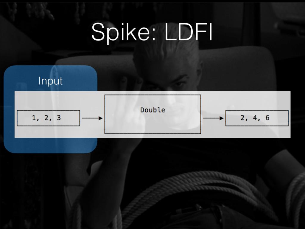 Input Spike: LDFI