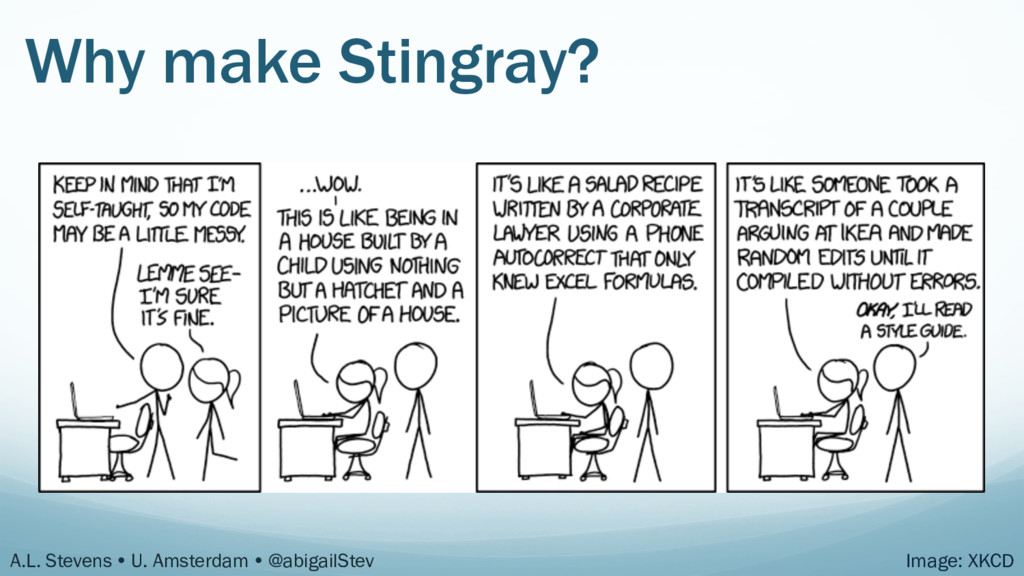 Why make Stingray? A.L. Stevens Ÿ U. Amsterdam...