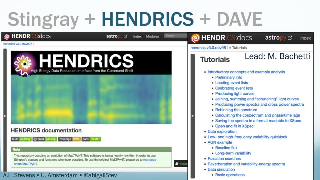 Stingray + HENDRICS + DAVE A.L. Stevens Ÿ U. A...