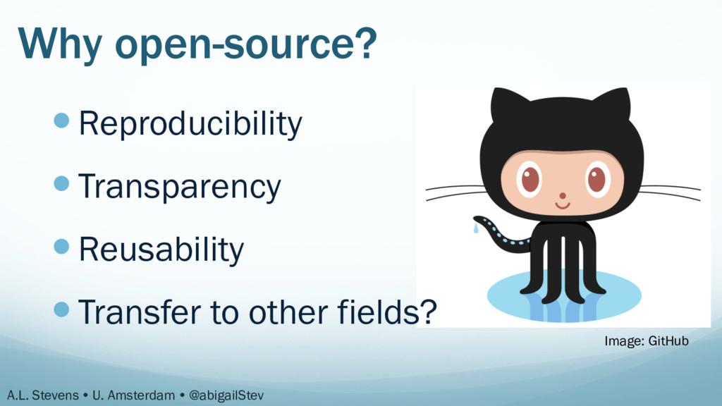 Why open-source? A.L. Stevens Ÿ U. Amsterdam Ÿ...