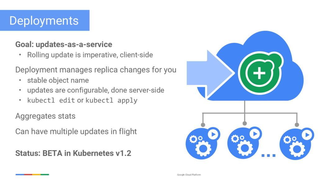 Google Cloud Platform Deployments Goal: updates...