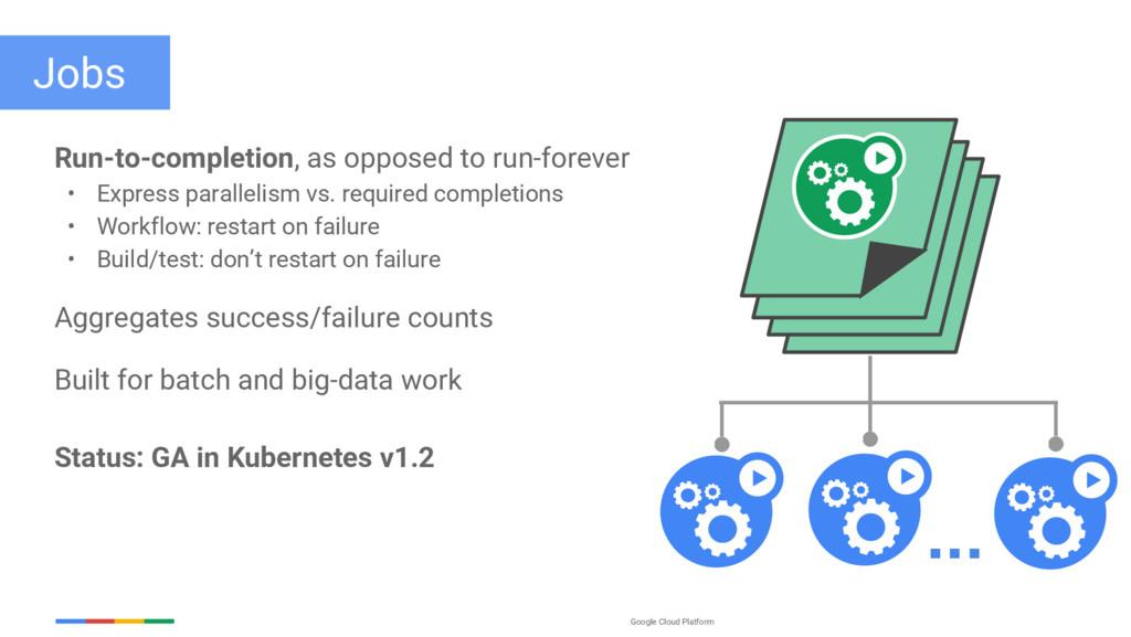 Google Cloud Platform Jobs Run-to-completion, a...