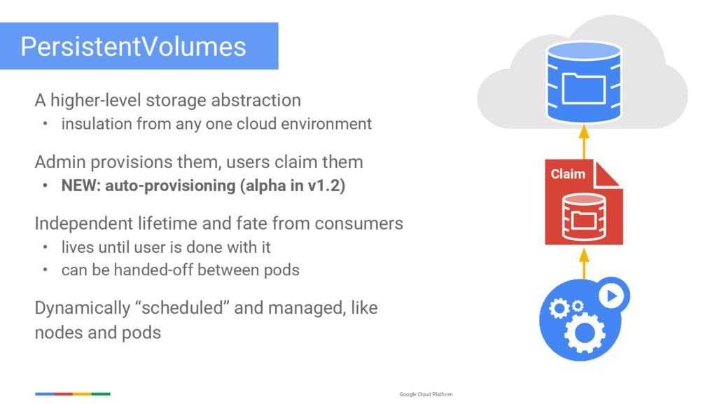 Google Cloud Platform PersistentVolumes A highe...