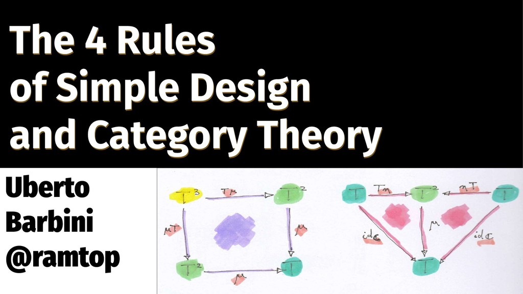 The 4 Rules of Simple Design and Category Theor...