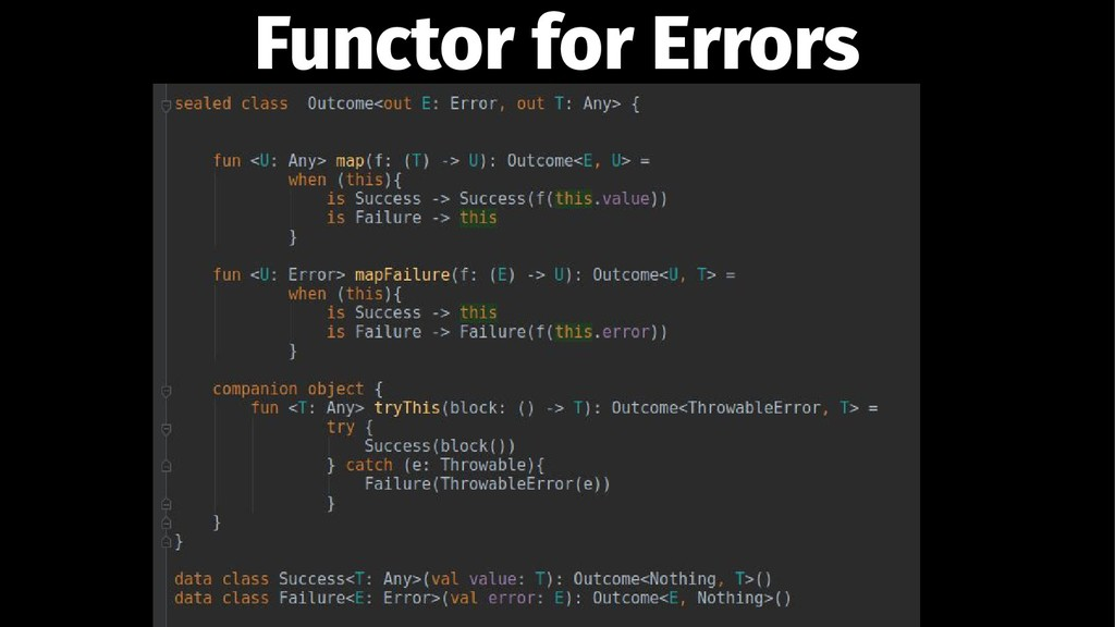 Functor for Errors