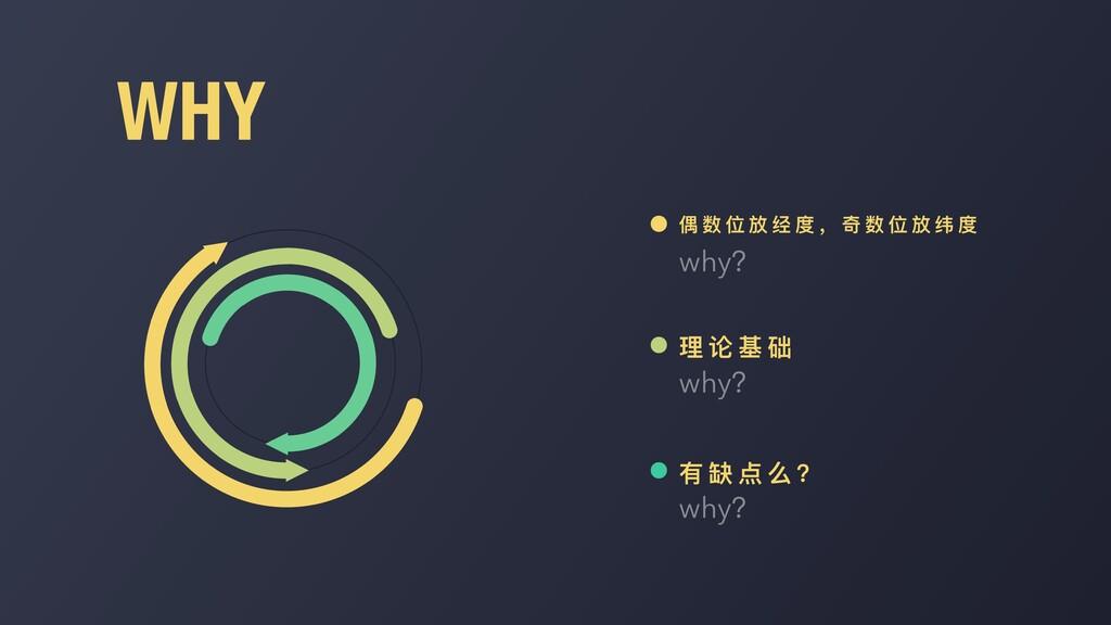 WHY why? 偶 数 位 放 经 度 , 奇 数 位 放 纬 度 why? 理 论 基 础...