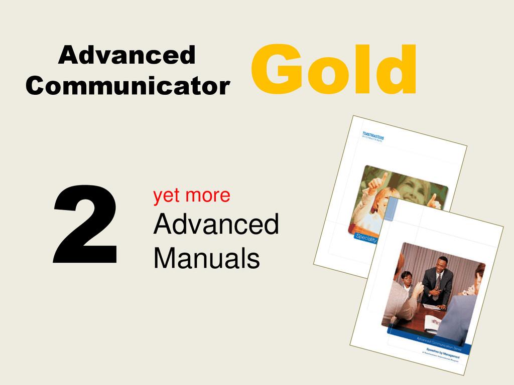 Advanced Communicator yet more Advanced Manuals...