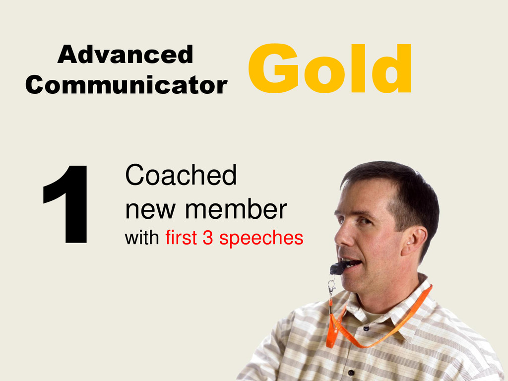 Advanced Communicator Coached new member with f...