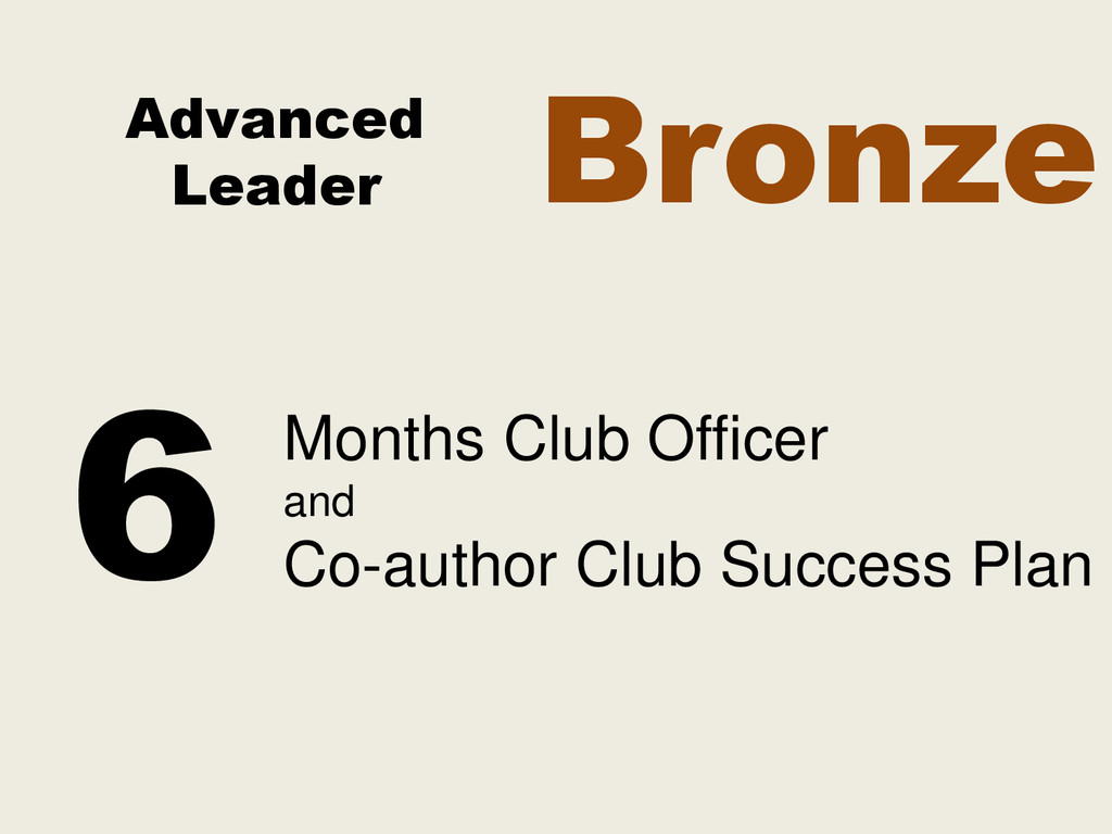 Advanced Leader Months Club Officer and Co-auth...