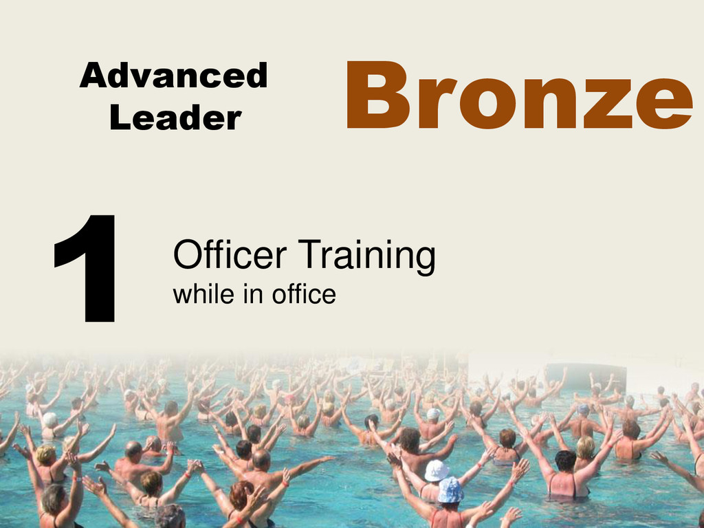 Advanced Leader Officer Training while in offic...