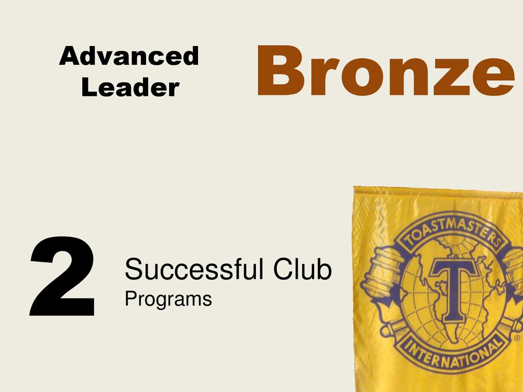 Advanced Leader Successful Club Programs 2 Bron...