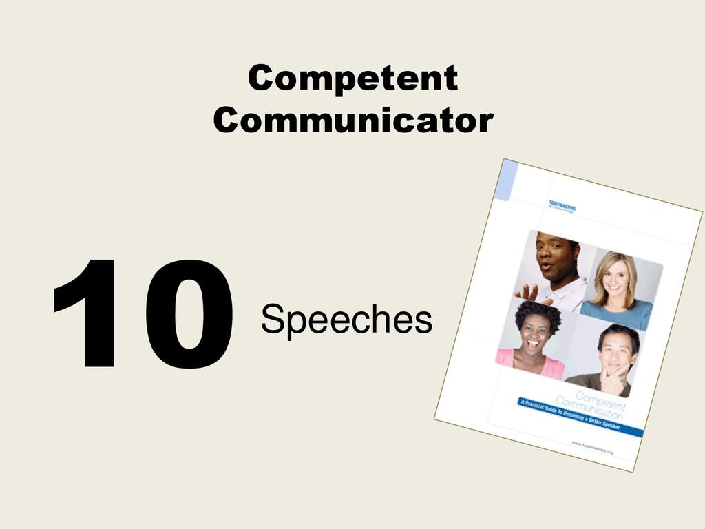 Competent Communicator Speeches 10