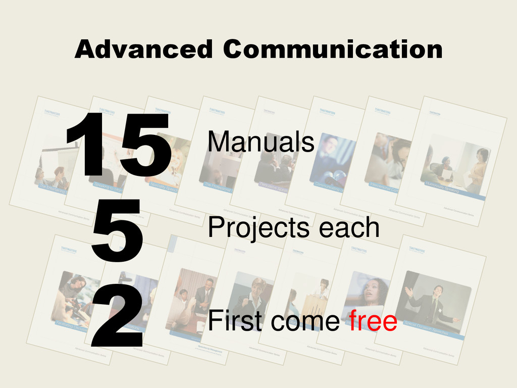 Advanced Communication First come free 2 Projec...