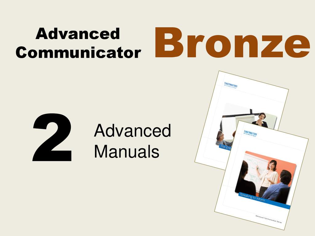 Advanced Communicator Advanced Manuals 2 Bronze