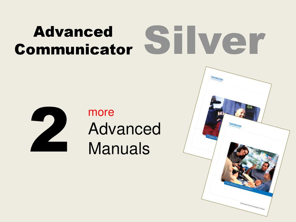 Advanced Communicator Silver more Advanced Manu...