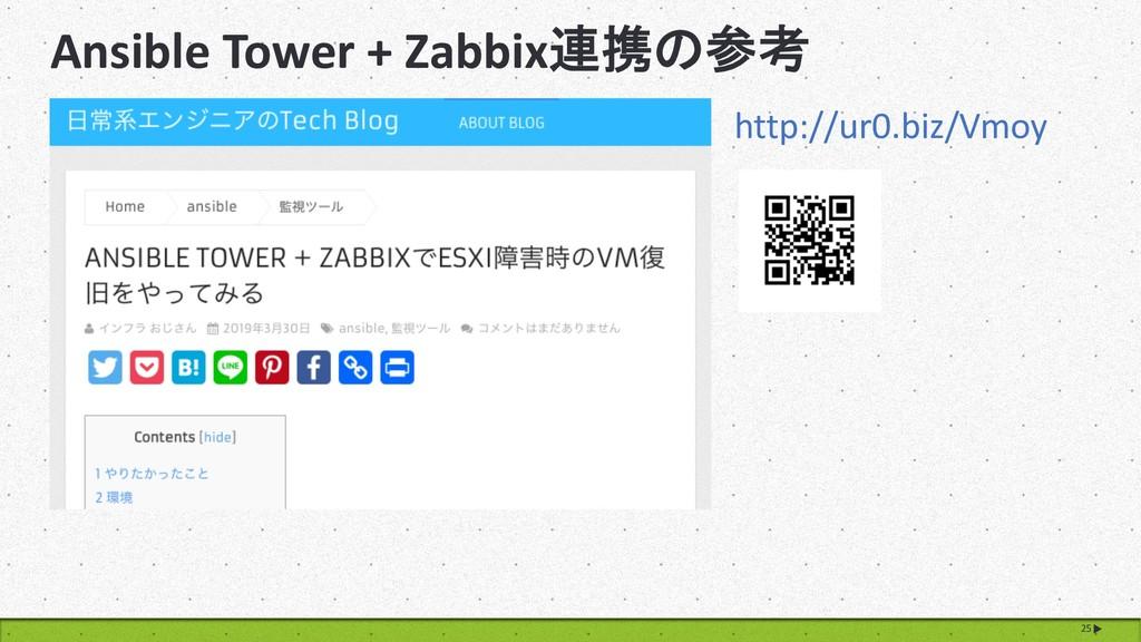 Ansible Tower + Zabbix 25 http://ur0.biz/V...