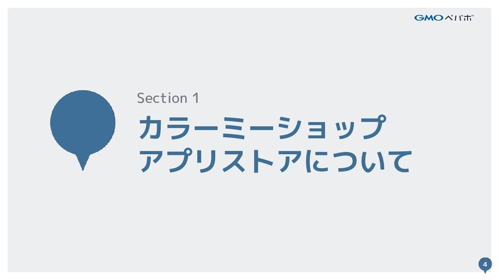 4 カラーミーショップ アプリストアについて Section 1 4