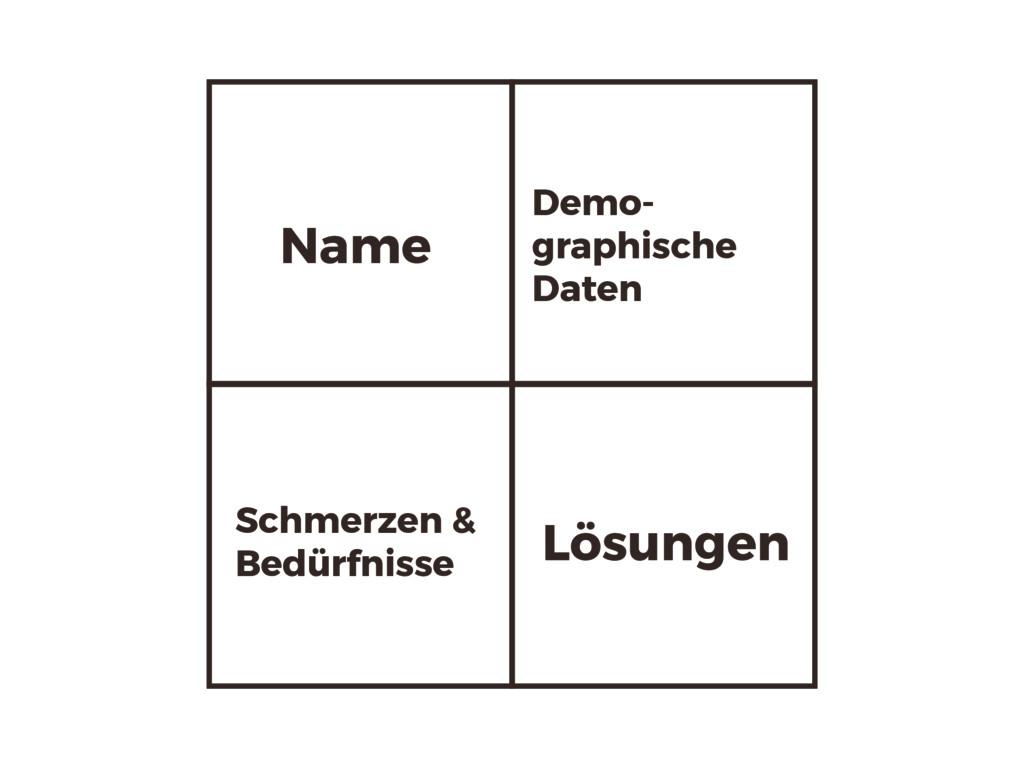 Name Demo- graphische Daten Schmerzen & Bedürfn...