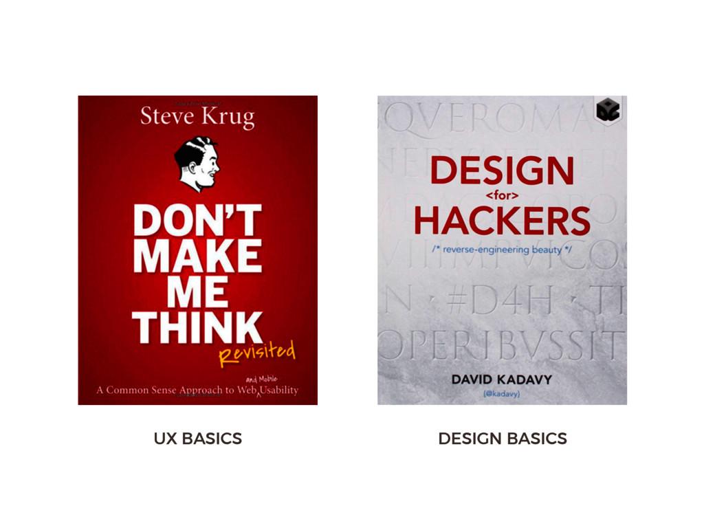 UX BASICS DESIGN BASICS