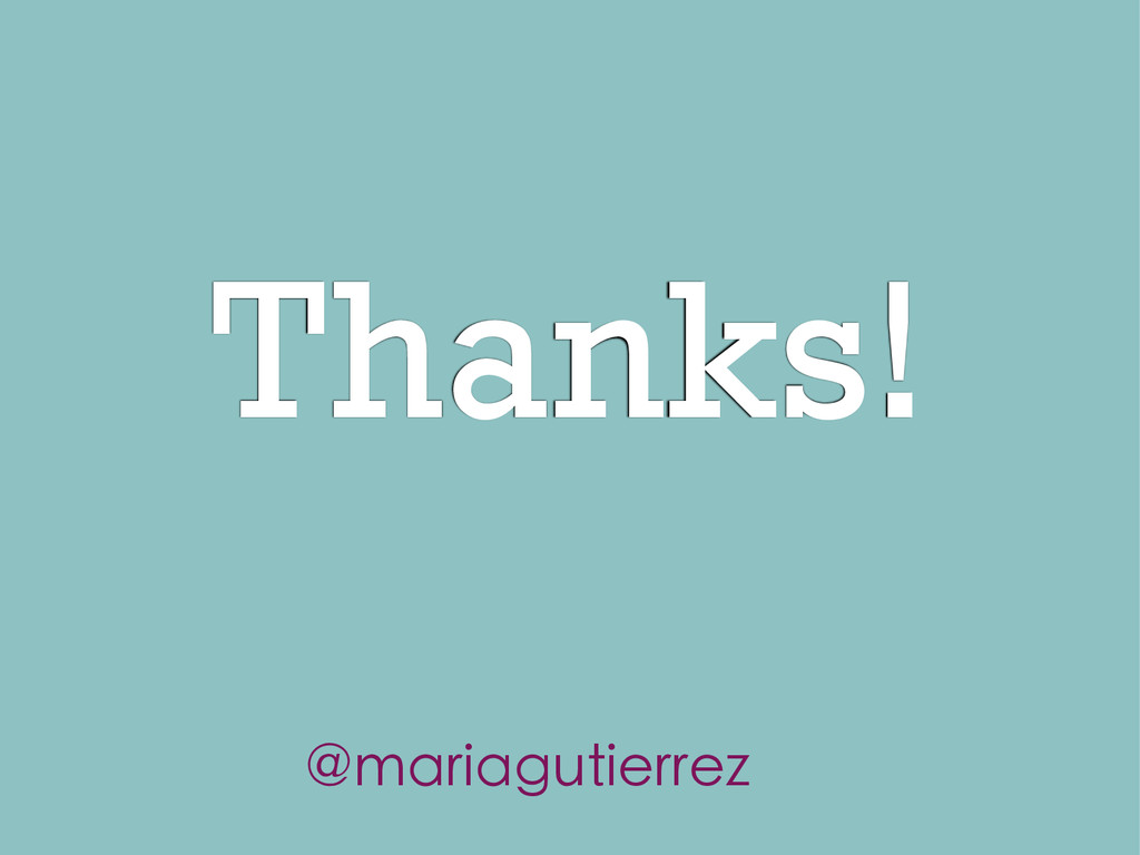 Thanks! @mariagutierrez
