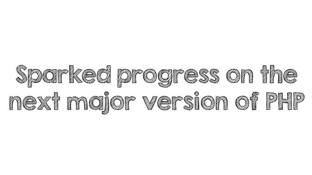 Sparked progress on the next major version of P...