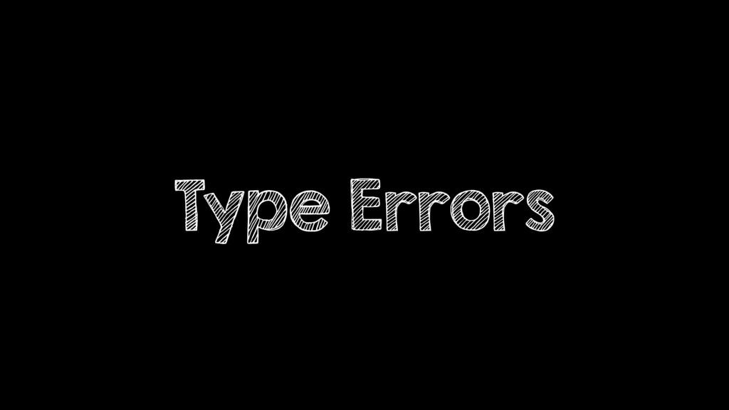 Type Errors