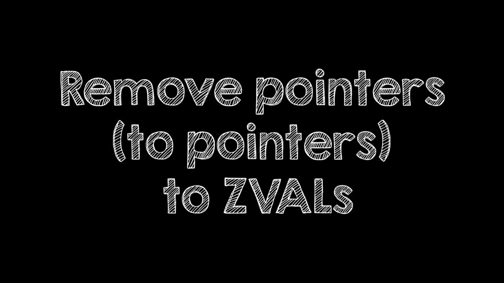 Remove pointers (to pointers) to ZVALs