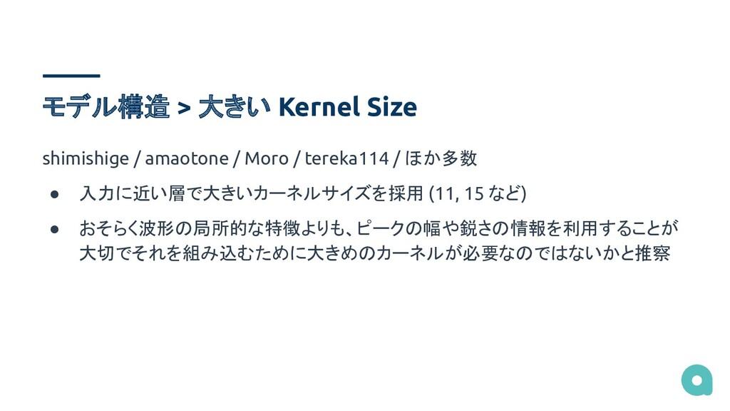 モデル構造 > 大きい Kernel Size shimishige / amaotone /...