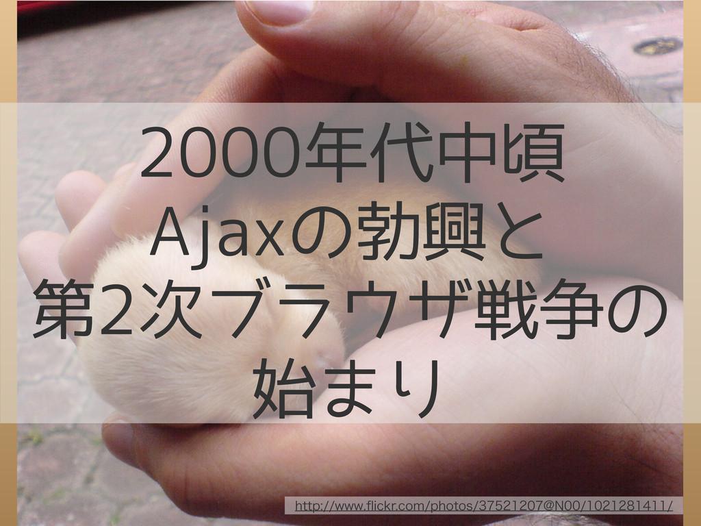 2000年代中頃 Ajaxの勃興と 第2次ブラウザ戦争の 始まり IUUQXXXqJD...