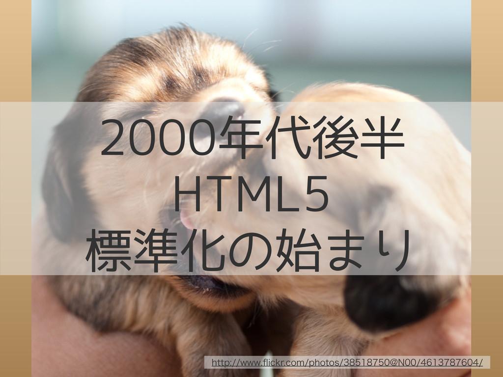 2000年代後半 HTML5 標準化の始まり IUUQXXXqJDLSDPNQIP...