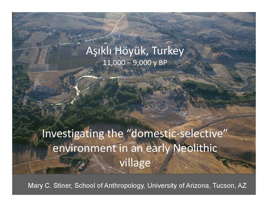 Aşıklı Höyük, Turkey 11,000 – 9,000 y BP Invest...