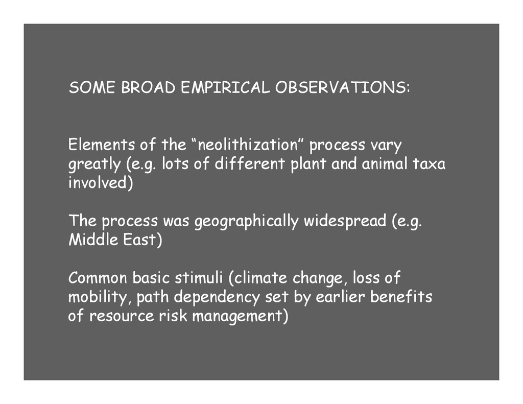 SOME BROAD EMPIRICAL OBSERVATIONS: Elements of ...