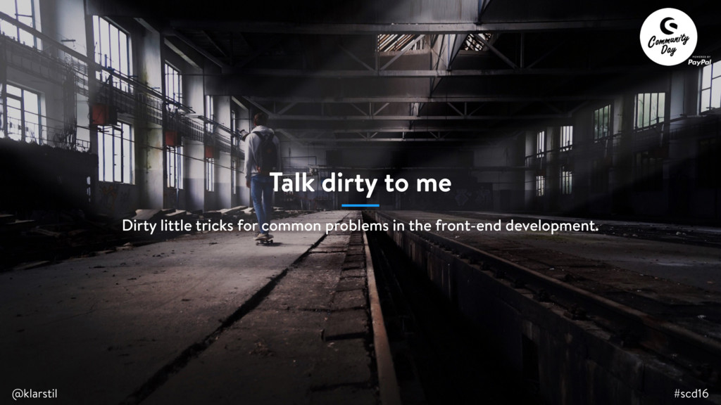 #scd16 @klarstil Talk dirty to me #scd16 @klars...