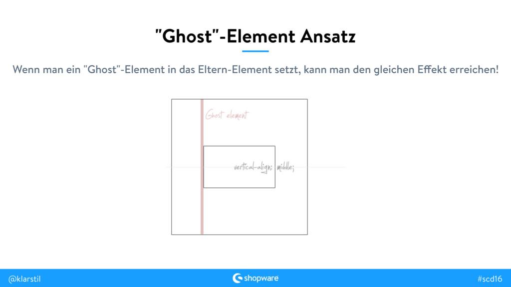 """#scd16 @klarstil """"Ghost""""-Element Ansatz Wenn ma..."""