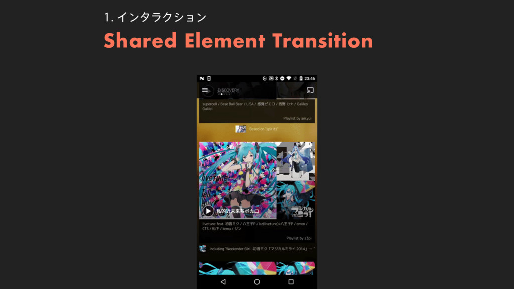 Shared Element Transition ΠϯλϥΫγϣϯ