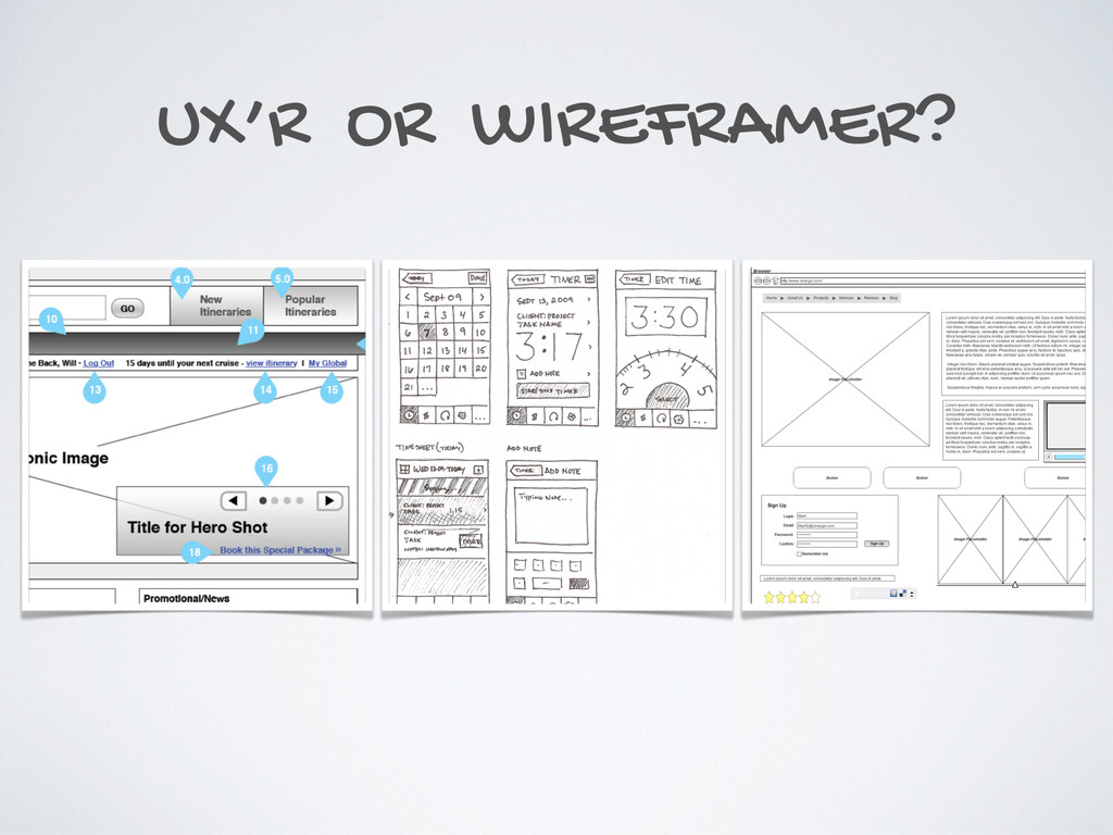 UX'R OR WIREFRAMER?