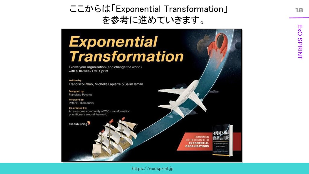 18 ExO SPRINT ここからは「Exponential Transformation」...
