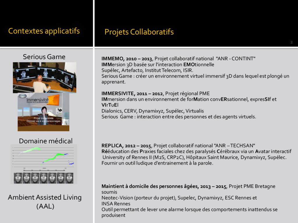 IMMEMO, 2010 – 2013, Projet collaboratif nation...