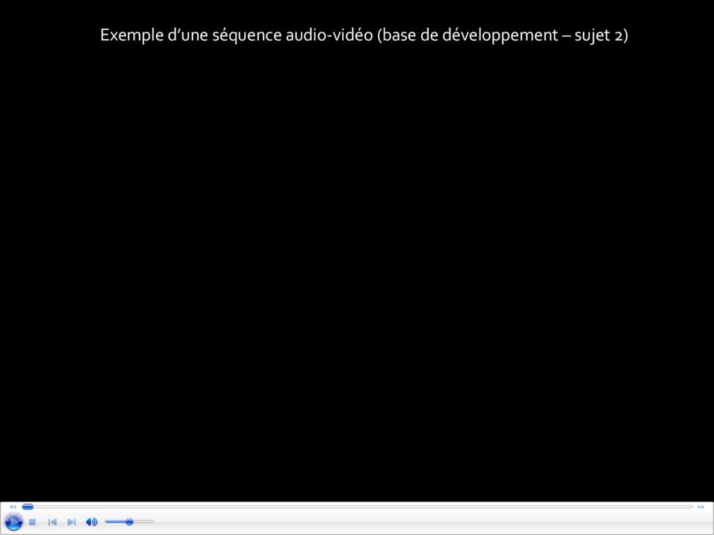 Exemple d'une séquence audio-vidéo (base de dév...