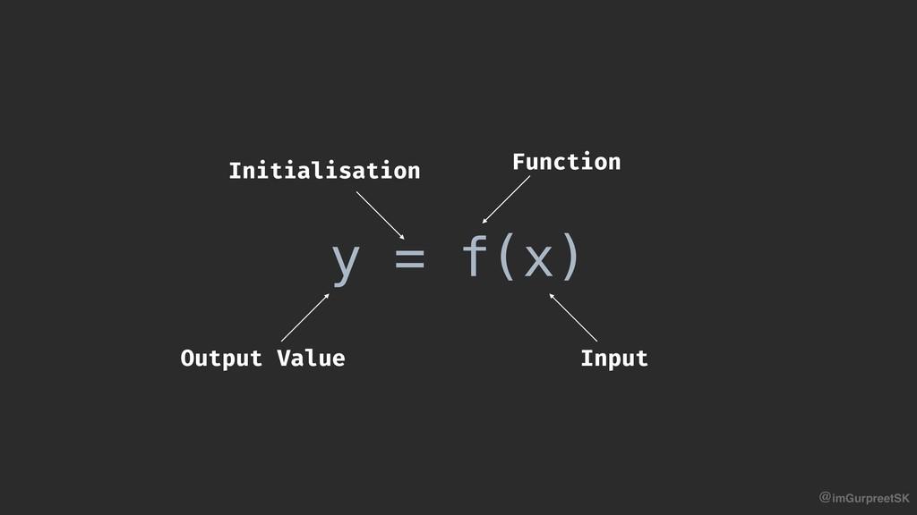 @imGurpreetSK y = f(x) Initialisation Function ...