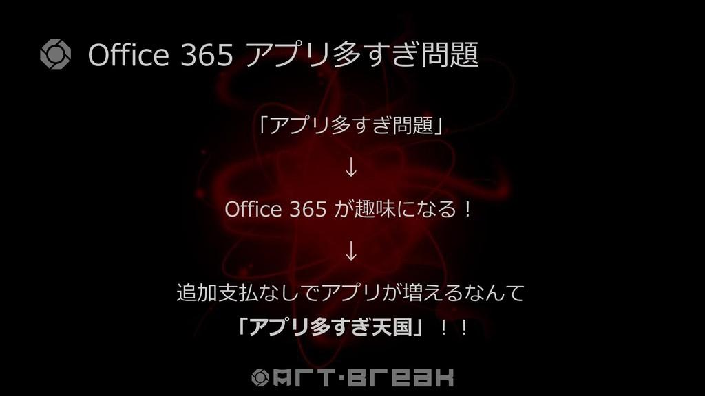 Office 365 アプリ多すぎ問題 「アプリ多すぎ問題」 ↓ Office 365 が趣味...