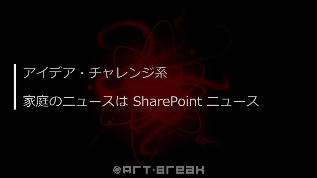 アイデア・チャレンジ系 家庭のニュースは SharePoint ニュース