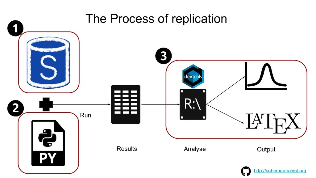 The Process of replication Analyse Results Outp...